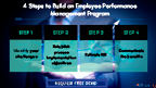 4 Steps to Build an Employee Performance Management Program