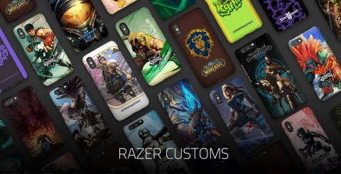Razer introduces its new customs mobile phone cases for gaming. (Photo: Business Wire)