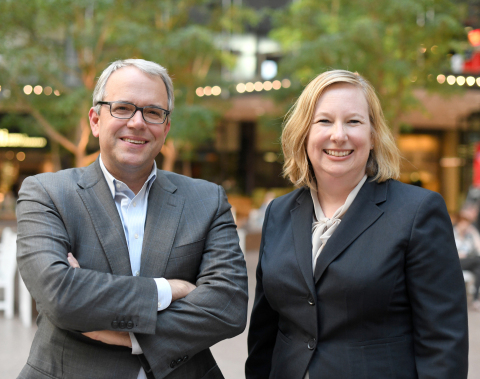 Steven Ryan, President and Managing Partner, and Ann Rainhart, Chief Operating Officer, Briggs and Morgan (Photo: Business Wire)