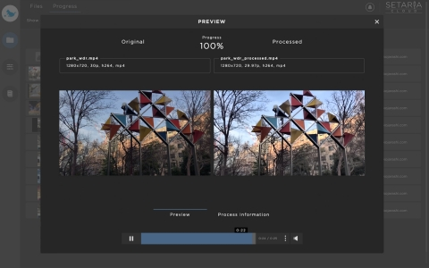 Real-time side-by-side preview when transcoding/processing (Graphic: Business Wire)