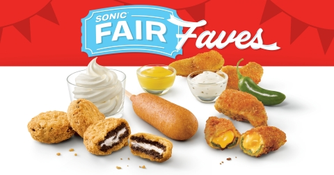 SONIC® Drive-In's new Fair Faves lineup: OREO® A La Mode, Corn Dog, Ched 'R' Peppers. (Photo: Business Wire)