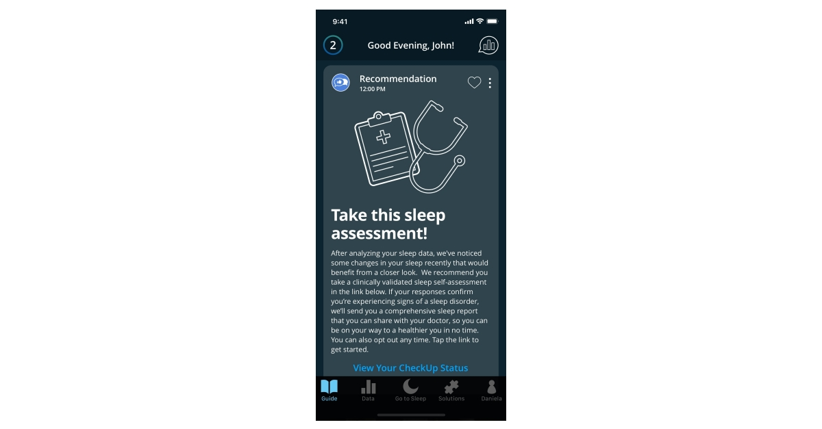 SleepScore Labs Announces 'SleepScore CheckUp', the Industry-First 'Sleep Report for Doctor' In-App Feature thumbnail