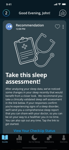 SleepScore Check Up (Photo: Business Wire)