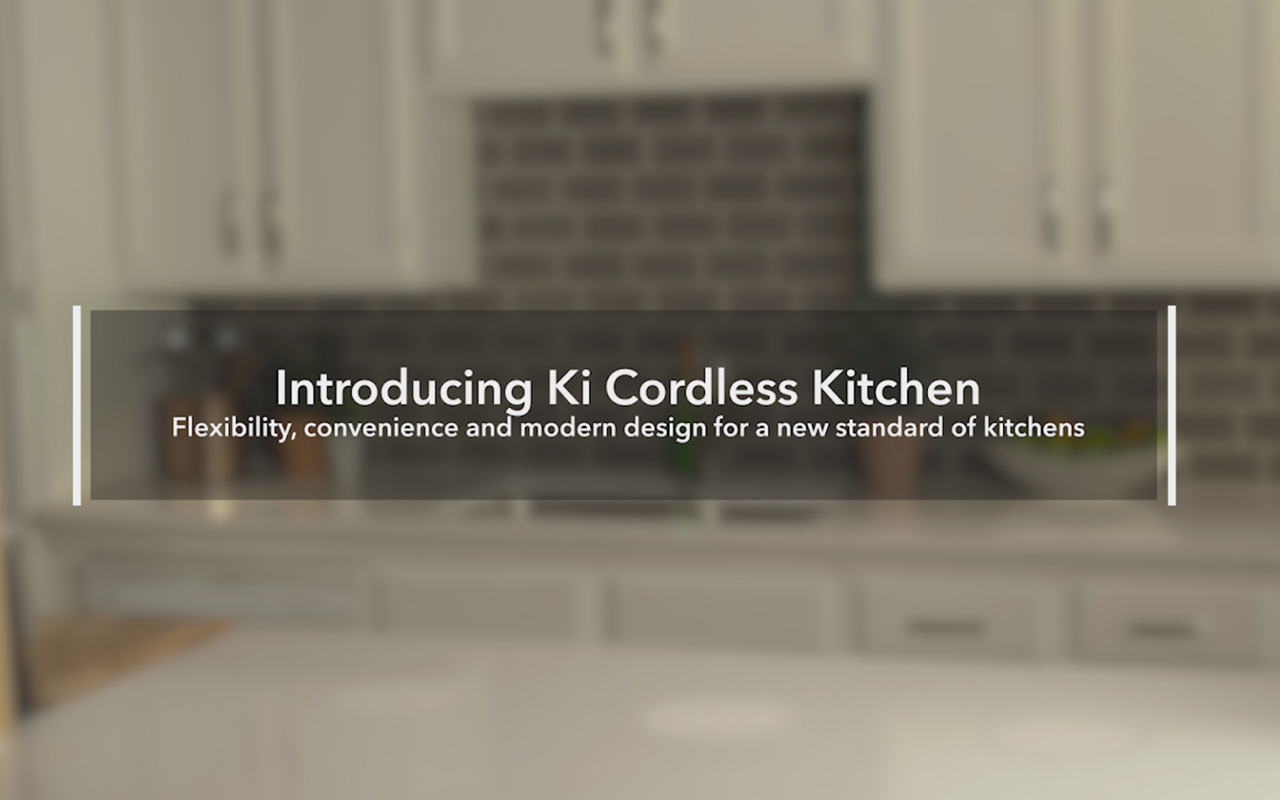 The Ki Cordless Kitchen standard brings wireless power to kitchen appliances.  (Video: Business Wire)