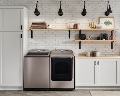 Samsung Brings the Elegance of Champagne to Top Load Laundry (Photo: Business Wire)