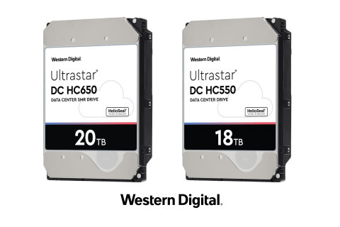 Western Digital's new 9-disk platform with energy-assisted recording delivers the world's highest capacity HDDs to OEM and hyperscale data center customers. (Photo: Business Wire)