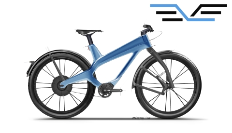 The new EVE9 e-bike from Pilot Distribution Group of The Netherlands, featuring a 3D-printed, carbon fiber unibody frame from AREVO. Debuting at Eurobike 2019 and available 1Q 2020. (Photo: Business Wire)
