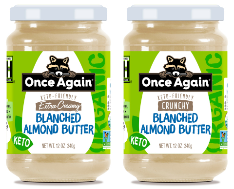 Once Again's organic blanched almond butters (Photo: Business Wire)