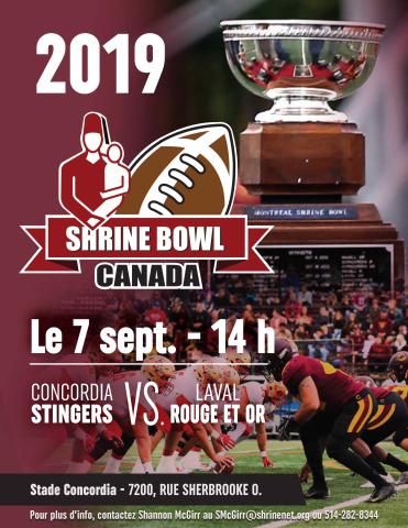 33e édition du Shrine Bowl Canada