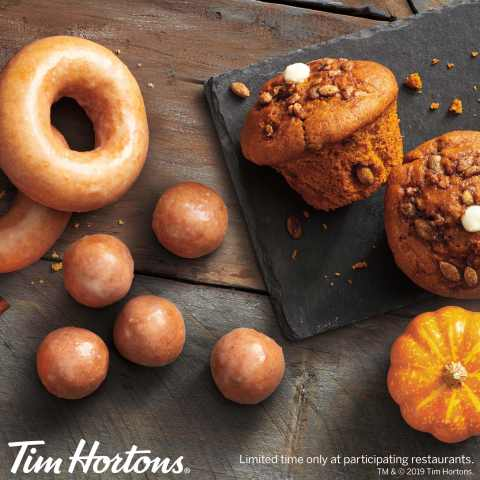 TIM HORTONS® CELEBRATES FALL WITH PUMPKIN SPICE PRODUCT LINE-UP (Photo: Business Wire)