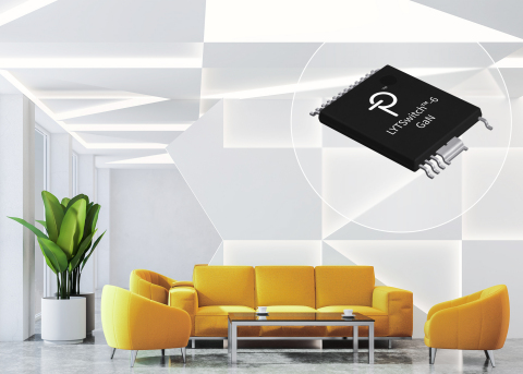 PowiGaN 技術を使用して業界屈指の高電力密度と効率を実現する Power Integrations の LYTSwitch-6 LED ドライバ (写真:ビジネスワイヤ)