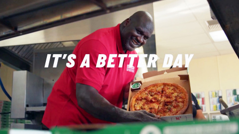 "Papa John's launches ""Better Day"" campaign featuring board member and franchisee, Shaquille O'Neal (Photo: Business Wire)"