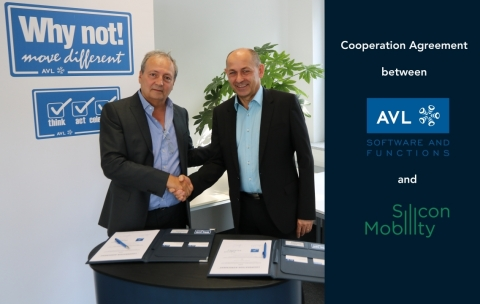 Bruno Paucard, CEO Silicon Mobility, and Georg Schwab, CEO AVL Software and Functions. August 22nd, 2019 (Photo @ 2019 AVL)