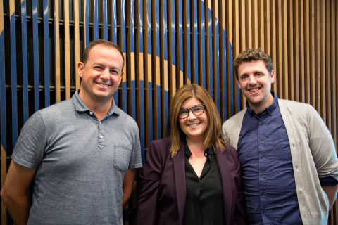 Chicago-based, independent agency Blue Chip has named Elizabeth Bleser SVP of Integrated Media. Jason Geis and Joel Walker will co-lead Creative. (L to R: Joel Walker, Elizabeth Bleser and Jason Geis.) (Photo: Business Wire)