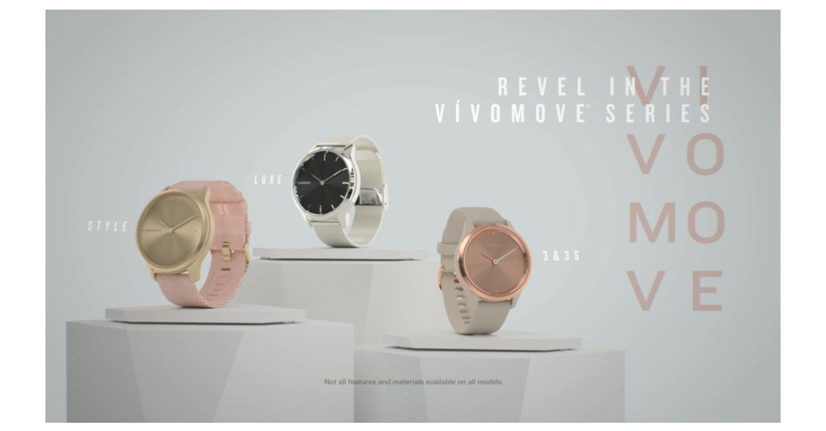 Garmin® introduces the latest vívomove® series with new