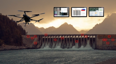 HYCOPTER hydrogen drones fly 3.5 hours at a time using fuel cells from HES Energy Systems (Photo: Business Wire)