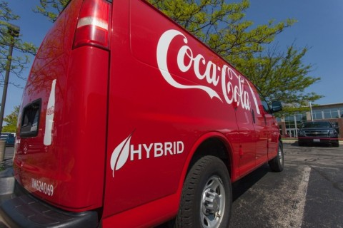 One of XL's first customers, Coca-Cola, has deployed nearly 300 hybrid electric GMC Chevy Express vans to its fleet. (Photo: Business Wire)
