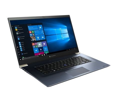 With a starting weight of 3.13 pounds and measuring just 0.69 inches (17.6 mm) thin, the Tecra X50 is the thinnest and lightest 15.6-inch premium laptop Dynabook has ever created. The laptop boasts an ultra-lightweight ToughBody magnesium alloy chassis in Onyx Blue – 40 percent lighter than plastic – and a Honeycomb Rib Structure, to provide extra durability. (Photo: Business Wire)