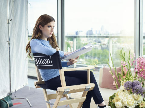 "Hilton is following up on the success of its first-ever celebrity-focused campaign starring Anna Kendrick with new ""Expect Better. Expect Hilton."" TV commercials and social content. (Photo: Hilton)"
