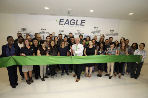 Eagle, an ISO-certified analytical laboratory, officially opened its new headquarters in southwest Houston on Aug. 27. Registered with the FDA, DEA and Texas Department of Public Safety, Eagle provides science-based testing and consulting services to 503A compounding pharmacies, 503B outsourcing facilities and pharmaceutical manufacturers worldwide. (Photo: Business Wire)