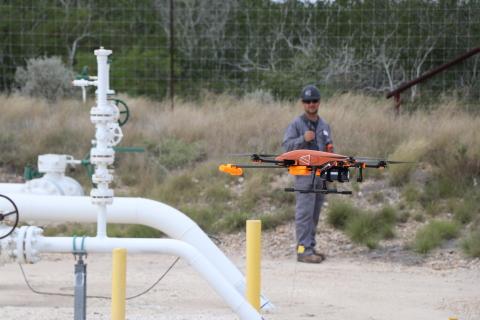 SeekOps Inc. SeekIR® Unmanned Aerial System in flight (Photo: Business Wire)