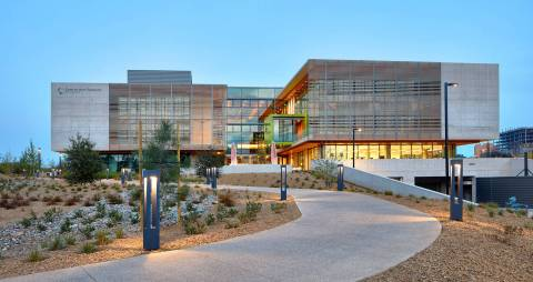 The Center for Novel Therapeutics on the campus of UC San Diego. Photo courtesy BioMed Realty.