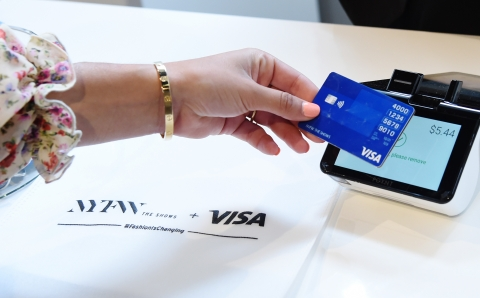 At New York Fashion Week: The Shows, guests can tap to pay at the Visa Everywhere Fashion Week Pop-Up Shop, 100% of the purchase price of products sold will benefit Women's World Banking. (Photo: Business Wire)