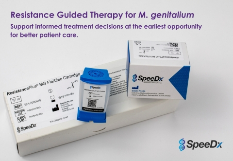 ResistancePlus MG FleXible simultaneously detects M. genitalium (Mgen) and macrolide resistance. SpeeDx, a trusted assay manufacturer, has partnered with Cepheid to provide Resistance Guided Therapy for Mgen on the GeneXpert sample-to-answer FleXible cartridge. (Photo: Business Wire)