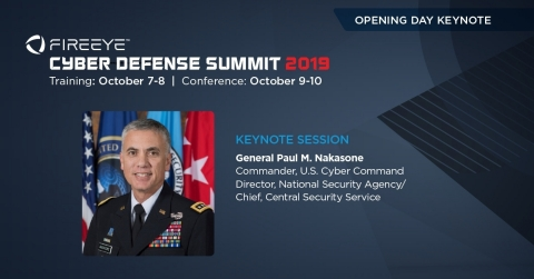 General Paul M. Nakasone will deliver the opening day keynote at FireEye Cyber Defense Summit in Washington D.C. (Photo: Business Wire)
