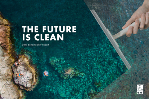 The American Cleaning Institute published its fifth Sustainability Report, The Future is Clean. (Graphic: Business Wire)