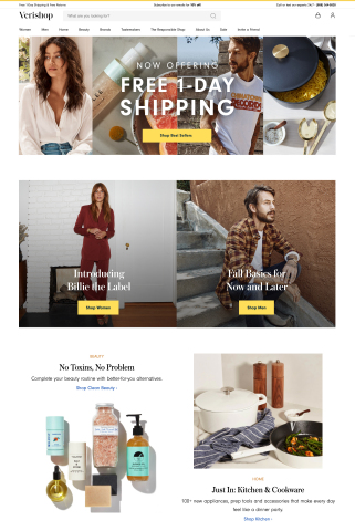 Verishop is introducing free one-day shipping for all purchases on the e-commerce platform. That means customers can get their favorite fashion, home décor and beauty products fast with no membership fees, no subscriptions and no minimum purchase amounts. (Graphic: Business Wire)
