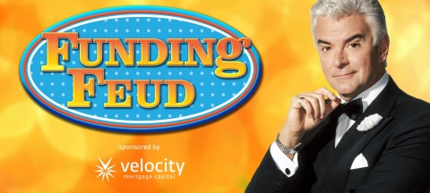 John O'Hurley, known for the role of J. Peterman on Seinfeld and as the fifth host of the Family Feud TV gameshow, will host Funding Feud at NAMB National 2019 (Graphic: Business Wire)