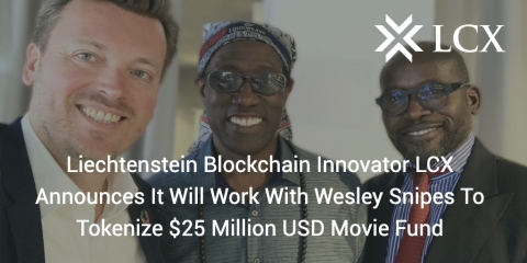 Monty Metzger (CEO at LCX) with Welsey Snipes (Daywalker Movie Fund) (Photo: Business Wire)