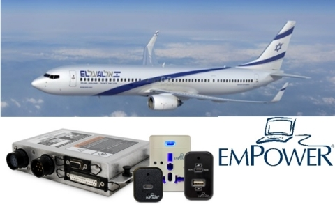 Astronics AES newest EmPower® in-seat power system is now flying on an EL AL Airlines' 737-800. (Photo: Business Wire)
