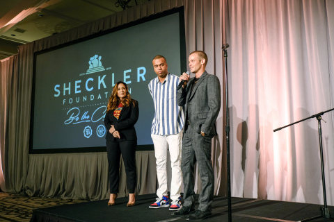 Gretchen Sheckler Hachee, JJ and Ryan Sheckler of the Sheckler Foundation. Ryan Sheckler's 12th Annual Charity Golf Tournament and Gala Receives Unprecedented Amount of Giving. (Photo: Business Wire)