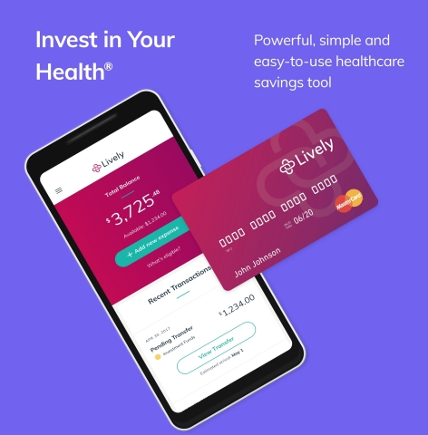 Lively Launches Android App To Expand Mobile User Access to Health Savings Accounts (Graphic: Business Wire)