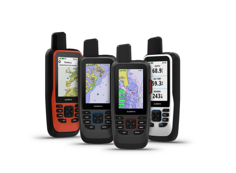 The all-new GPSMAP 86 handheld series is a feature-packed addition to Garmin's popular marine handheld collection. Combining Garmin's premium GPS navigation with inReach satellite communication technology, the flagship GPSMAP 86sci is the first handheld to come preloaded with Garmin BlueChart g3 coastal cartography with integrated Navionics data. (Photo: Business Wire)