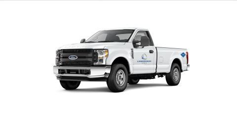 Ford F-250 provided by Landi Renzo to Los Angeles World Airports, equipped with an underbody CNG tank system. A new fleet of Ford F-250s and F-350s will be used at LAX. (Photo: Business Wire)