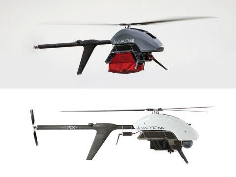 AeroVironment VAPOR 55 Helicopter UAS with Drop Mechanism and gimbaled EO/IR camera (Photo: AeroVironment)