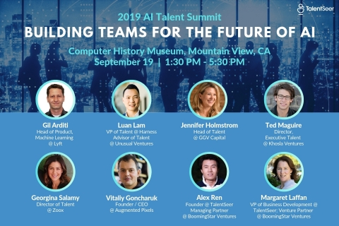 2019 AI Talent Summit: Building Teams For The Future of AI. September 19. Mountain View, CA. TalentSeer. (Graphic: Business Wire)
