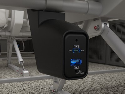 Astronics' new EmPower Xpress outlet housing unit enables the fast, easy installation of EmPower USB power on aircraft seats. (Photo: Business Wire)