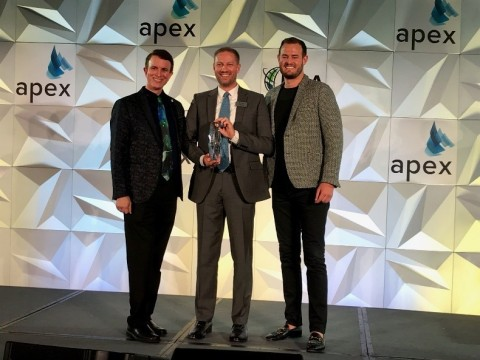 Astronics' Smart Aircraft Intelligent Bin Sensing solution received the APEX/IFSA award for best cabin innovation at APEX EXPO. See it in booth 1429 at the show. (Photo: Business Wire)