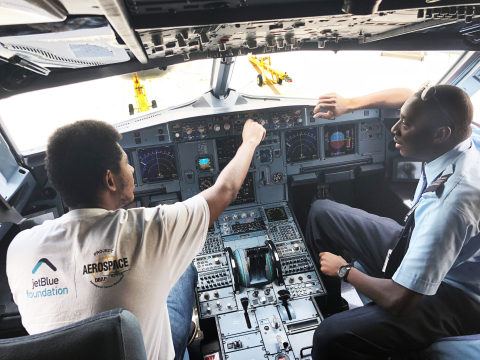 This summer, the JetBlue Foundation and the Organization of Black Aerospace Professionals (OBAP) hosted seven ACE Academy programs to introduce students of color to careers in aviation.