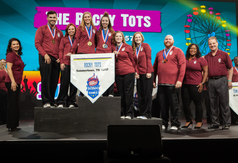 The SONIC® Drive-In team from 9102 Highway 20 in Summertown, Tenn. took home the championship title and were awarded gold medals in SONIC's annual premier competition training program, the DR PEPPER SONIC GAMES. (Photo: Business Wire)