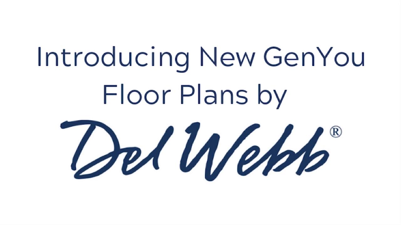 Introducing New GenYou™ Floor Plans by Del Webb