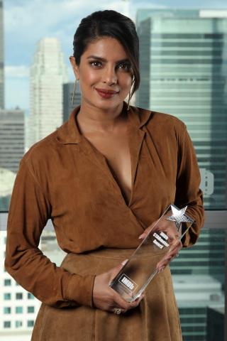Priyanka Chopra Jonas receives the IMDb STARmeter Award at the IMDb Studio Presented By Intuit QuickBooks at Bisha Hotel & Residences on September 07, 2019 in Toronto, Canada. (Photo by Rich Polk/Getty Images for IMDb)