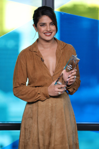 Priyanka Chopra Jonas receives the IMDb STARmeter Award at the IMDb Studio Presented By Intuit QuickBooks at Bisha Hotel & Residences on September 07, 2019 in Toronto, Canada. (Photo by Rich Polk/Getty Images for IMDb)