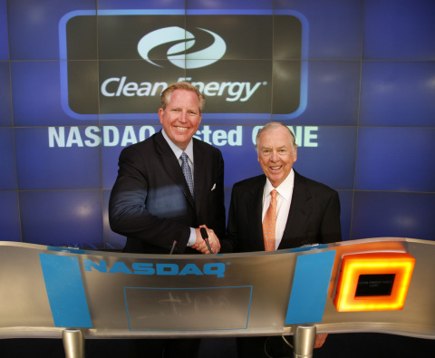 Clean Energy co-founders Andrew J. Littlefair and T. Boone Pickens. (Photo: Business Wire)