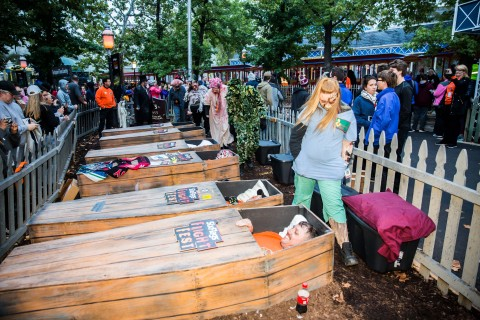 Six Flags' 30-Hour Coffin Challenge is back and scarier than ever! Who will rise up in the end? (Photo: Business Wire)