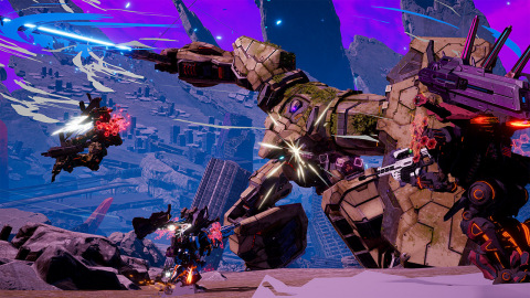 In this new action game, DAEMON X MACHINA, from Kenichiro Tsukuda (Armored Core) and mech designer Shoji Kawamori, your environment is your ally. (Graphic: Business Wire)